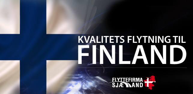 Kontakt os hvis du har en Flytning til og fra Finland hvor du har brug for et professionelt flyttefirma.