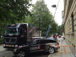 Flytning på Frederiksberg med flyttelift sat op til vindue på 4 sal