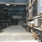 Her ses en af Flyttefirma Sjællands palle reoler hvor vi opbevare vores paller med indbo på.