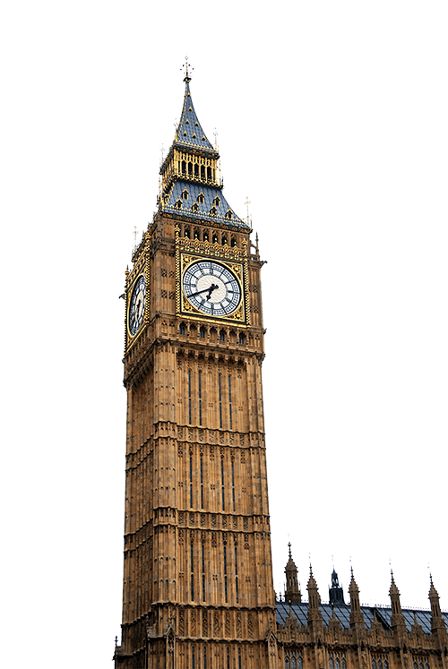 Her ses Big Ben i London