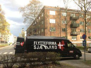 Flyttebil ankommet til flytning i Norge