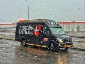 Snevejr i Norge, vi hjælper altid med din flytning uanset vejr!