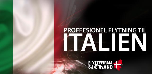 Brug for flytning til Italien? Vi er eksperter til at flytte både til og fra Italien.