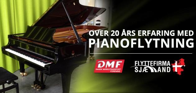 Over 20 års erfaring med Piano flytning
