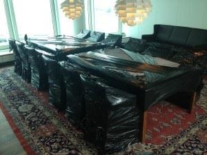 Indpakning af mødebord