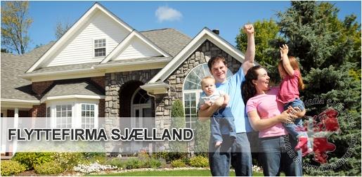 Flyttefirma Sjælland familie billede