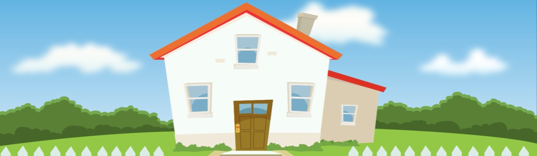 Baggrund med hus