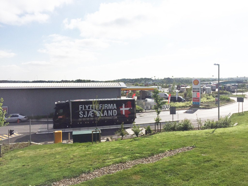Flyttefirma Sjælland ved Shell tank