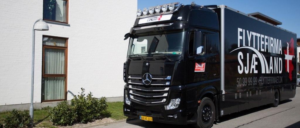 Gigaspace flyttebil klar til transport