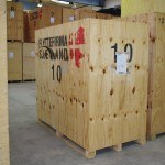Flytning opmagasineret i containere