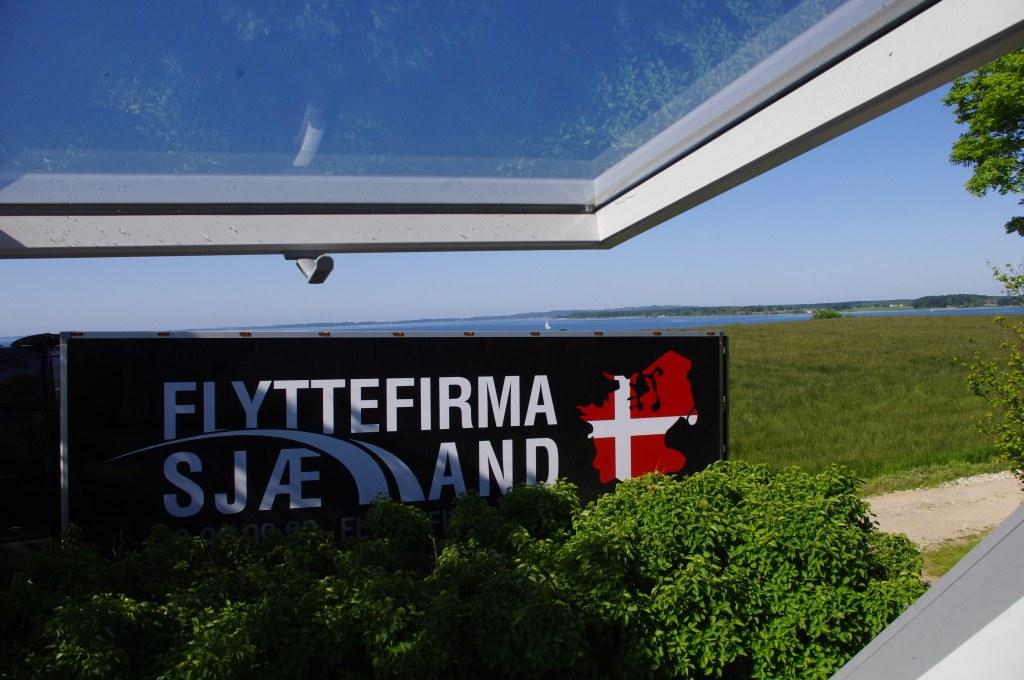 Billede af flyttebil fra Flyttefirma Sjælland