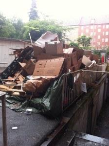 affald til udsmidning