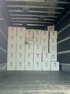 Flytning pakket på flyttebil
