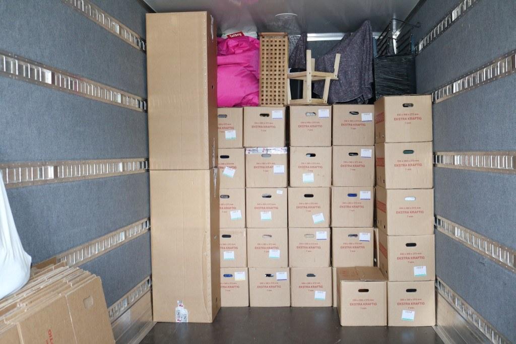 Gigaspace lastbil pakket med flytning