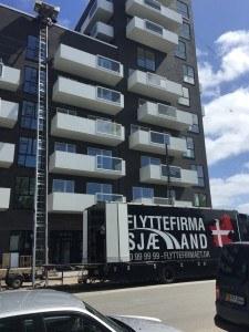 Flyttelift opsat til 6sal på Ørestaden