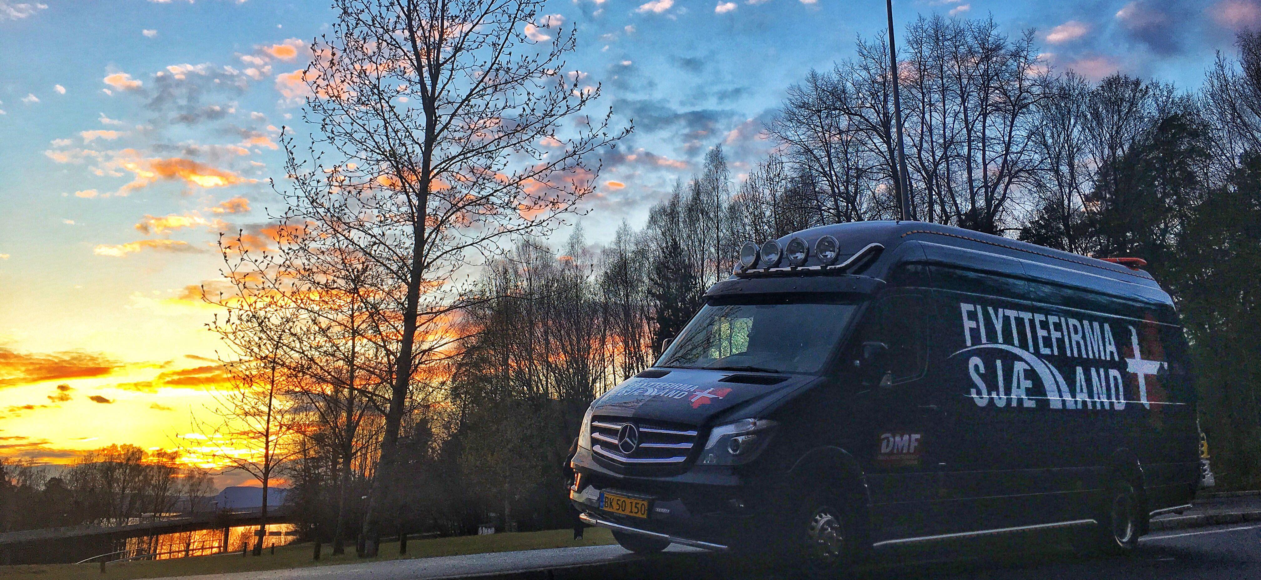 flyttebil fra Flyttefirma Sjælland i Norge