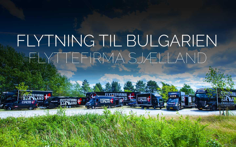 Flyttefirmaet cover flytning til bulgarien