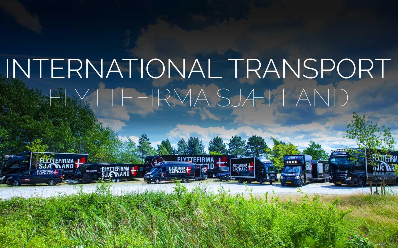 Flyttefirmaet cover international transport